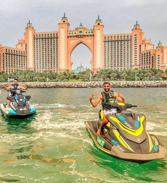 Group enjoying jetskiing in Dubai